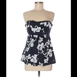Womens Hollister Strapless Floral Tube Top - Sz M